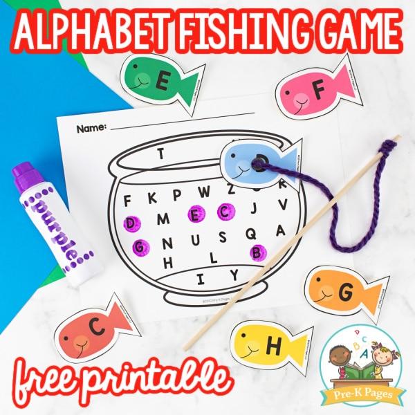 Alphabet Fishing Game for Preschoolers
