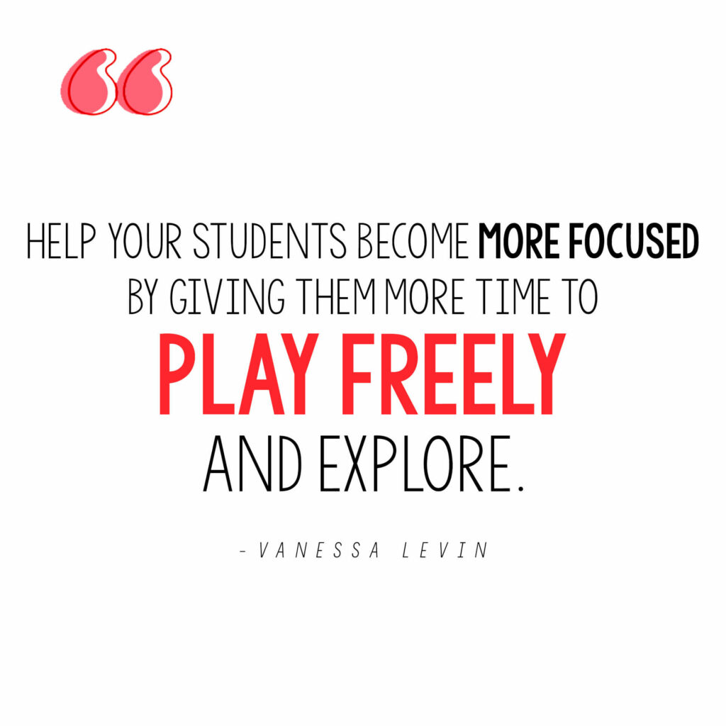 Vanessa Levin quote on how to help children become more focused