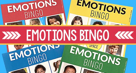 Emotions Bingo Game For Preschoolers