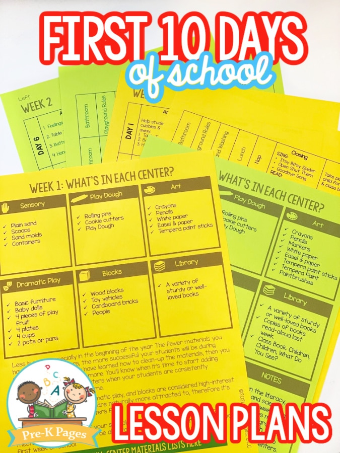 Image: First 10 Days of School Lesson Plan