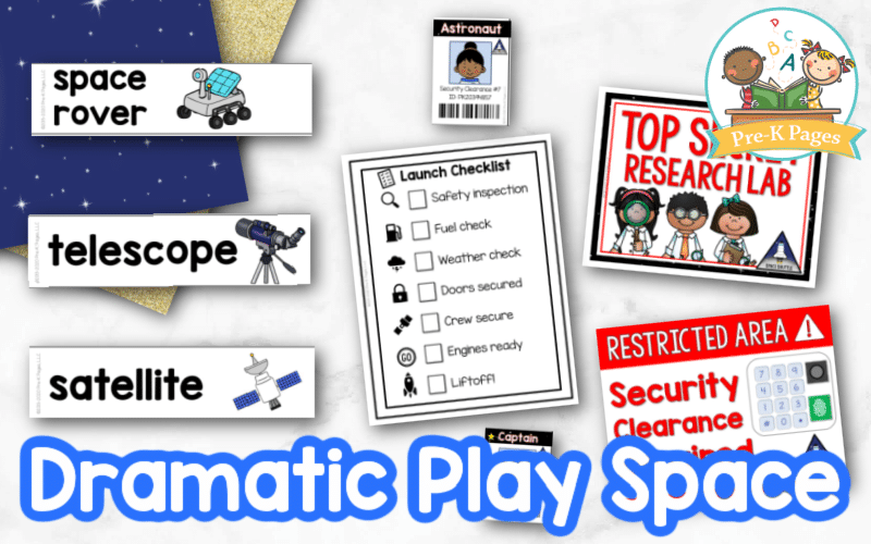 Space Dramatic Play for Preschool by Pre-K Pages