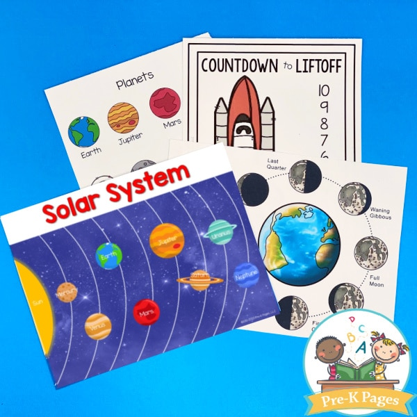 Space Dramatic Play Posters for Preschool