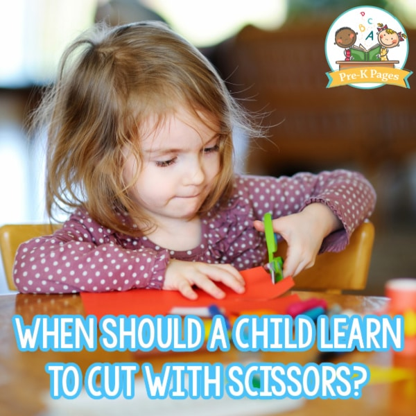 Learn to cut with scissors