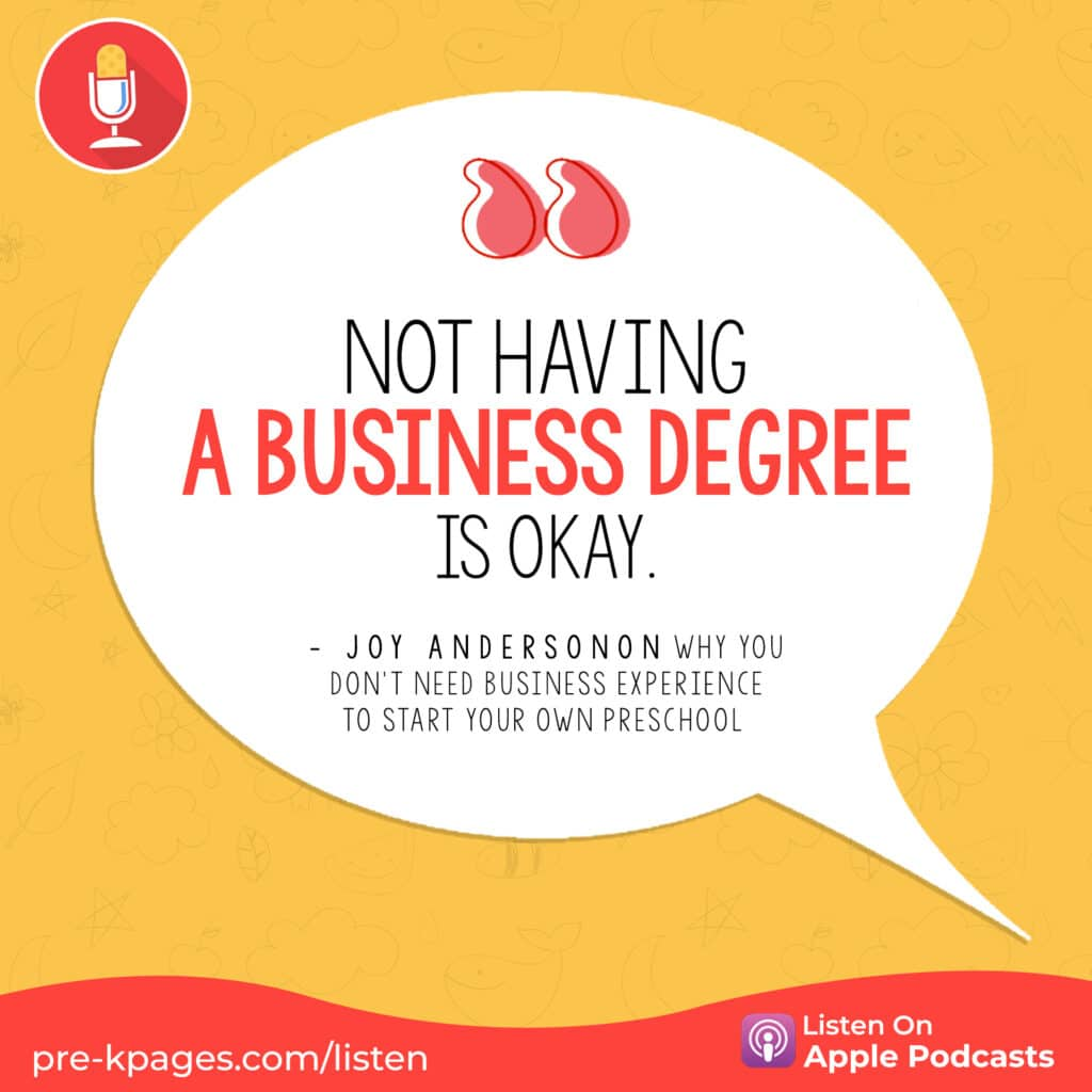 """[Image quote: """"Not having a business degree is okay.""""]"""