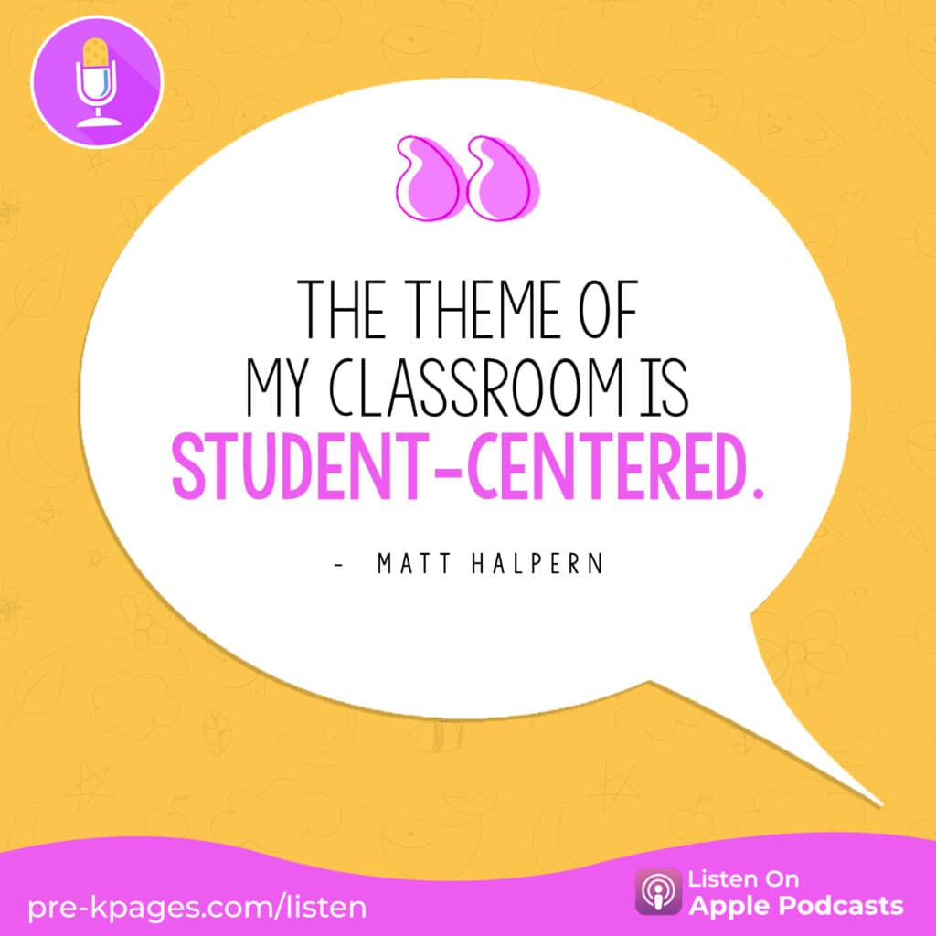 """[Image quote: """"The theme of my classroom is student-centered.""""]"""