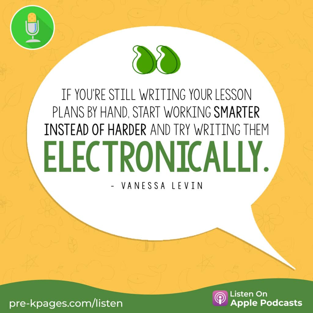 """[Image Quote: """"If you're still writing your lesson plans by hand, start working smarter instead of harder and try writing them electronically.""""]"""