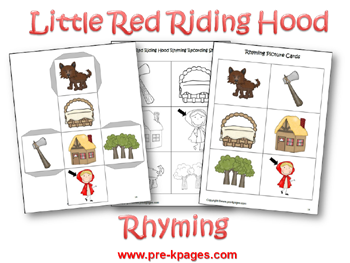 Little Red Riding Hood Literacy Preview