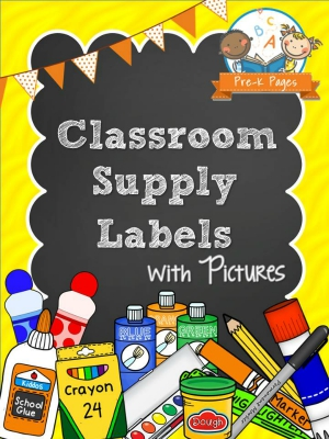 graphic about Free Printable Classroom Labels for Preschoolers known as Printable Clroom Provide Labels - Pre-K Web pages