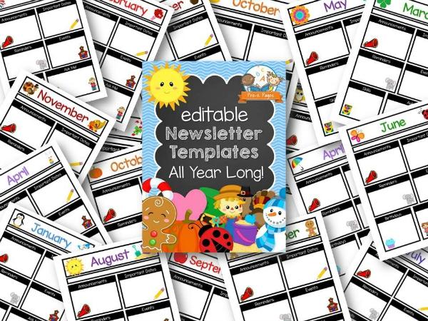 Printable Classroom Newsletters For Preschool And Kindergarten
