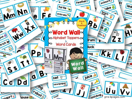 Printable Word Wall Kit for Pre-K and Kindergarten