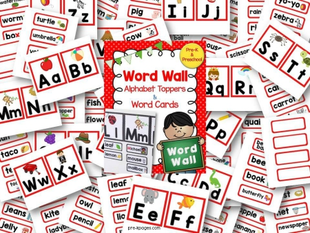 photo regarding Word Wall Printable referred to as Phrase Wall Crimson - Pre-K Internet pages