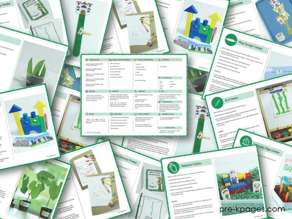 Jack and the Beanstalk Lesson Plan Bundle Collage