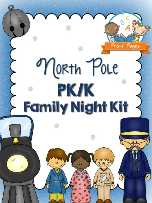 North Pole Theme Family Literacy Night for Preschool and Kindergarten