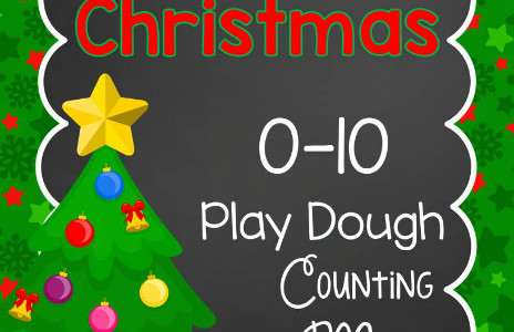 Christmas Play Dough Counting Mats