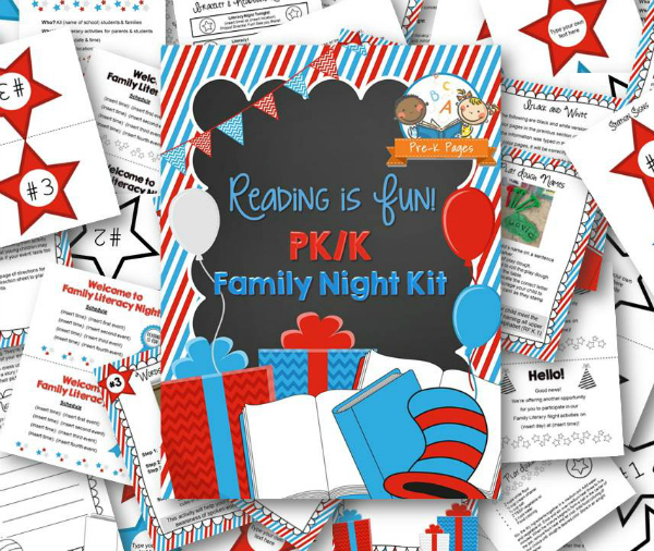 Printable Reading is Fun Theme Family Night Activities