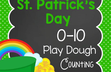 St. Patrick's Day Play Dough Counting Mats