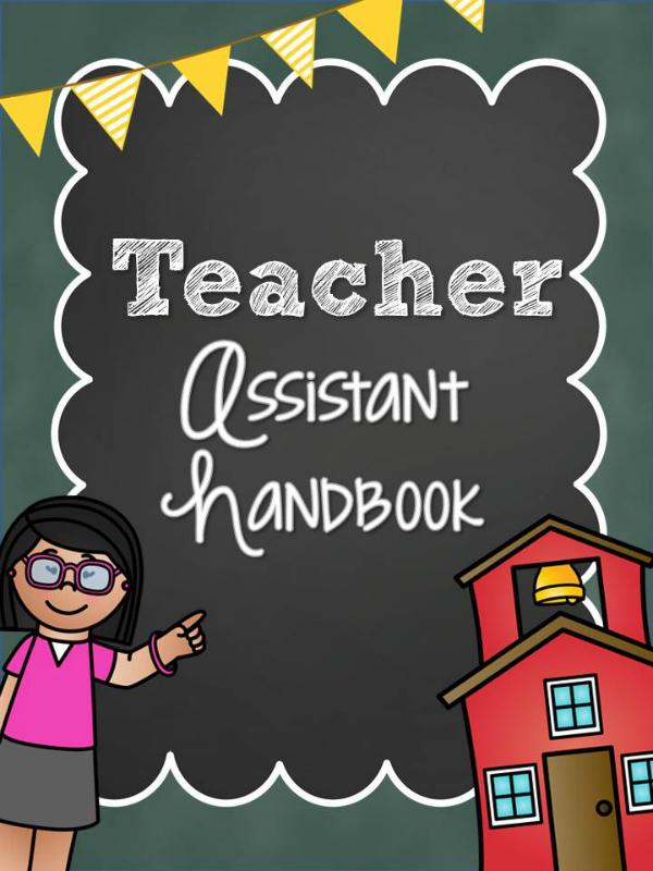 Printable Teacher Assistant Handbook