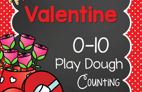 Valentine Play Dough Counting Mats