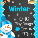 Winter Play Dough Counting Mats