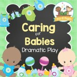 Baby Nursery Pretend Play Center for Preschool