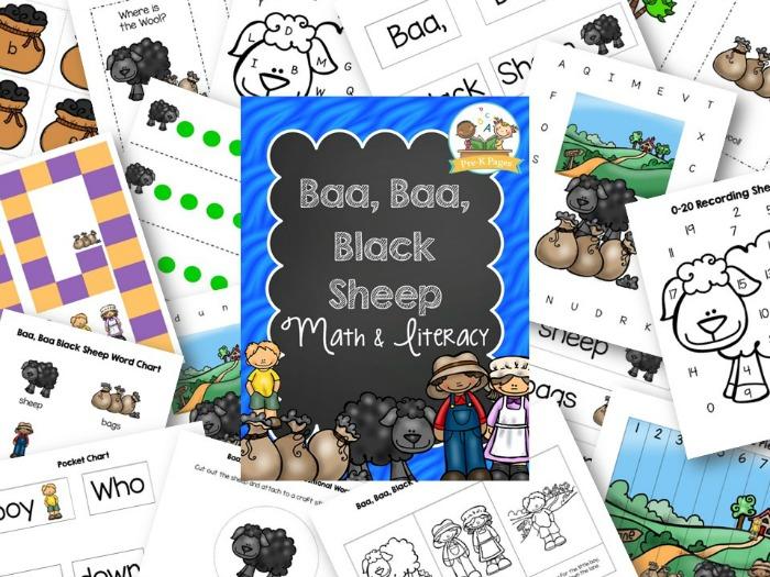 Baa Baa Black Sheep Printable Activities for Preschool