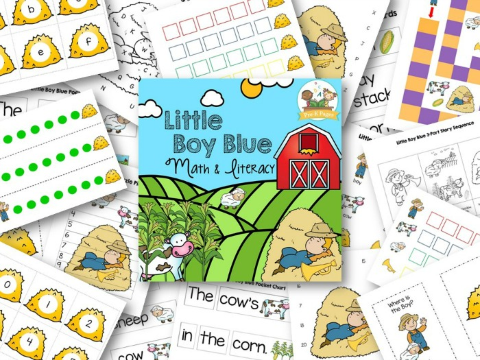 Printable Little Boy Blue Lesson Plans for Preschool
