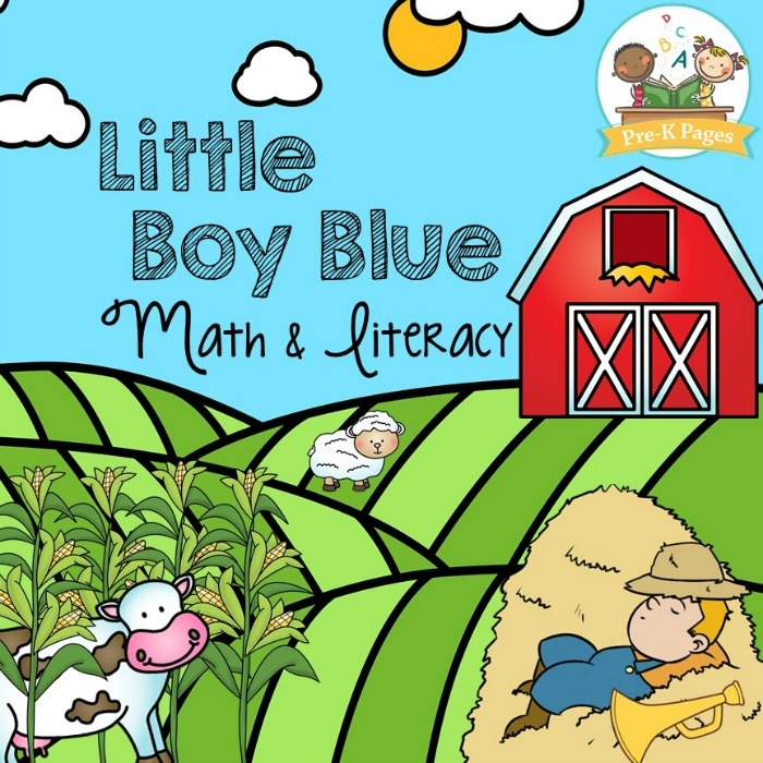 Little Boy Blue Nursery Rhyme Theme Printables for Preschoolers