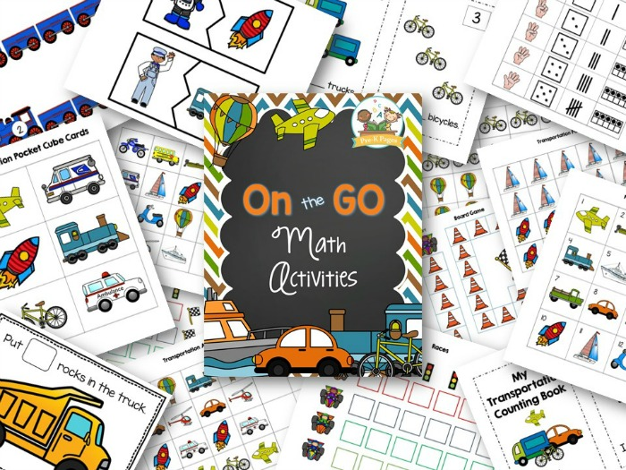 Transportation Theme Math Activities for Preschoolers