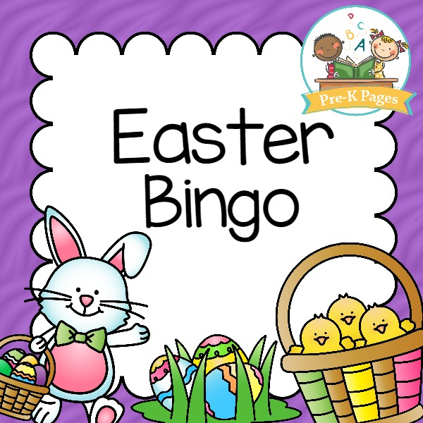 Printable Easter Bingo Game for Preschool or Kindergarten Kids