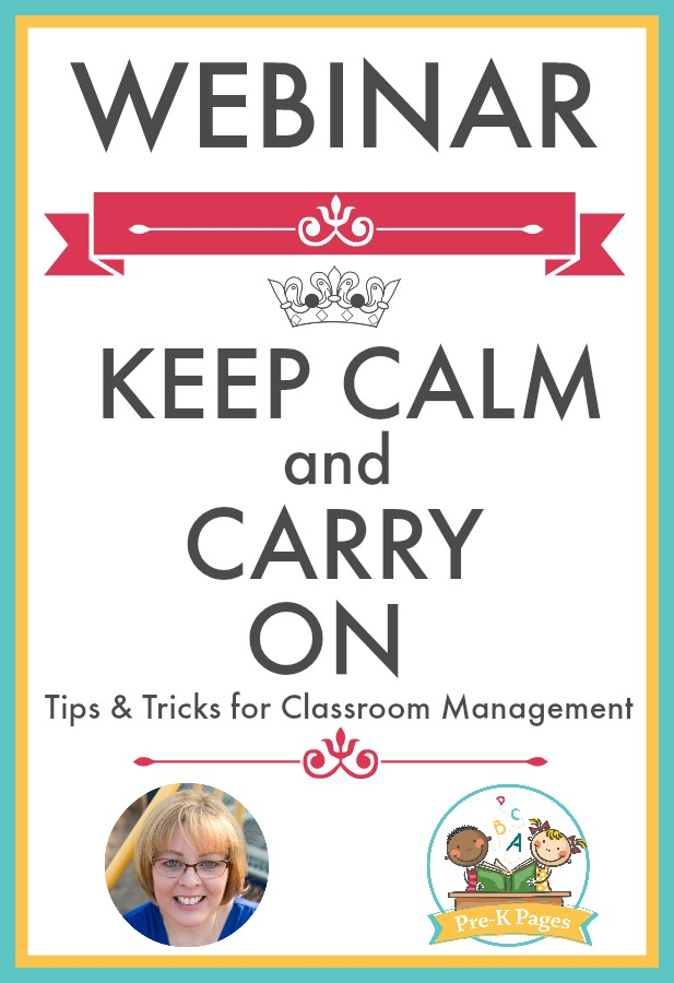 Keep Calm and Carry On Classroom Management Webinar for Preschool and Kindergarten Teachers