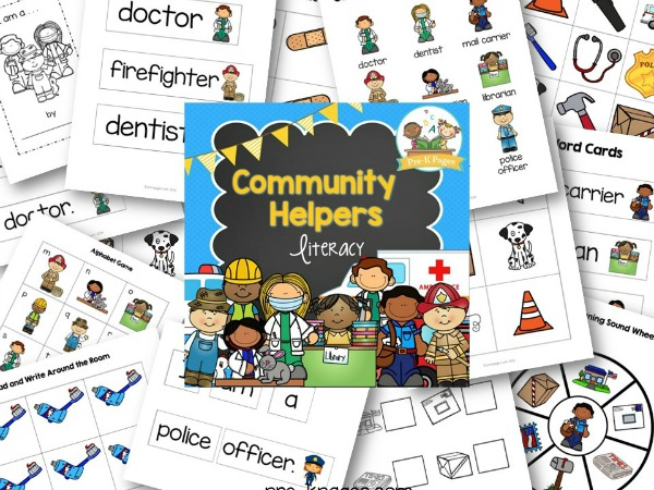 Printable Community Helper Literacy Activities for Preschool