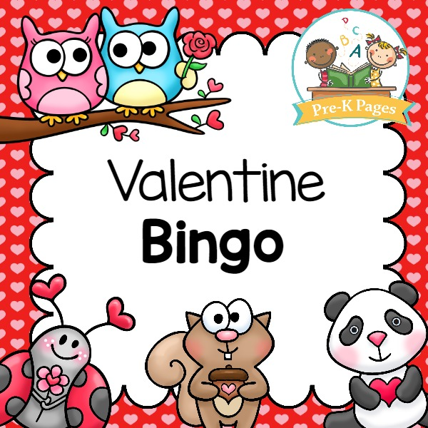 A fun printable bingo game for a Valentine party or theme in your preschool or kindergarten classroom