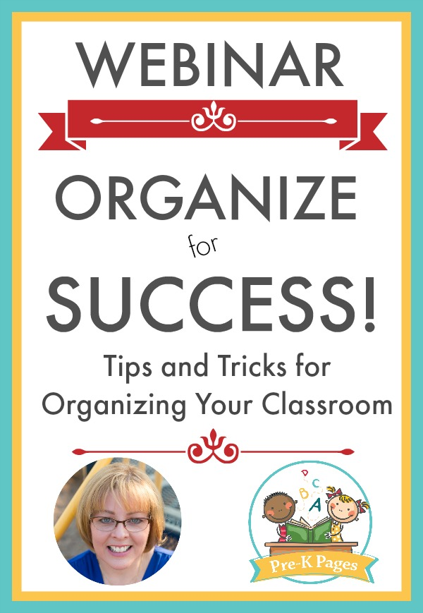Organize for Success Webinar 60 minute training for teachers of preschool and kindergarten