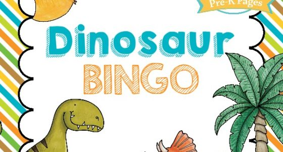image relating to Printable Dinosaur called Dinosaur Bingo - Pre-K Webpages
