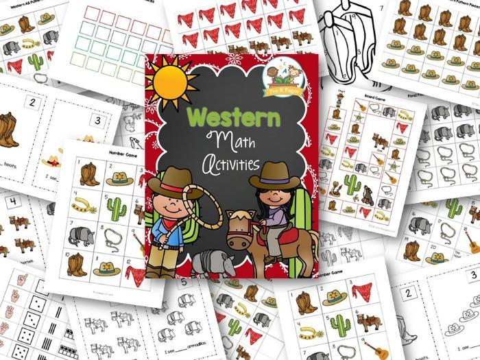 Cowboy Theme Math Activities for Preschool