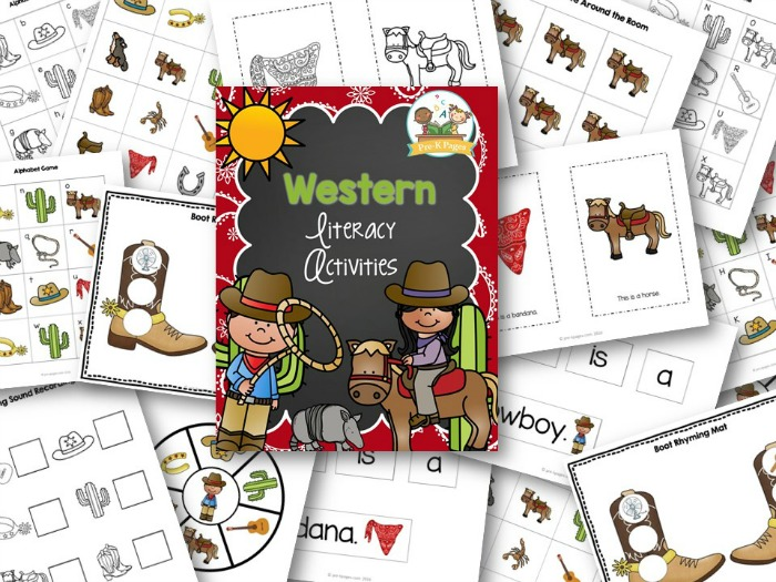 Printable Cowboy Theme Literacy Activities