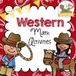 Printable Western Theme Math Activities for Preschool