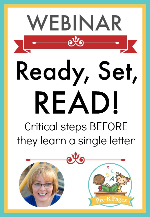 Webinar Learning to Identify Letters in Preschool a 60 minute webinar that will help you learn what comes before teaching letters