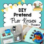 DIY Pretend Play Kitchen Printable Props