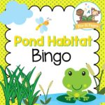 Printable Pond Theme Bingo Game for Preschool and Kindergarten