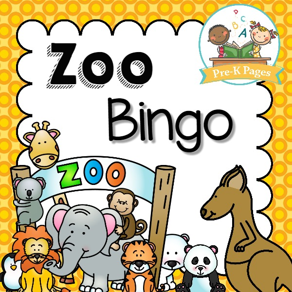 Printable Zoo Bingo Game