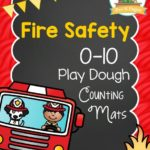 Printable Fire Safety Play Dough Counting Mats for Preschool