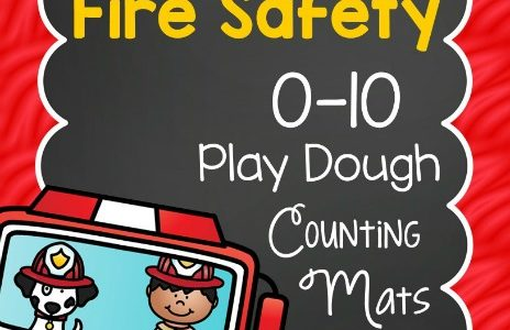 Fire Safety Play Dough Counting Mats