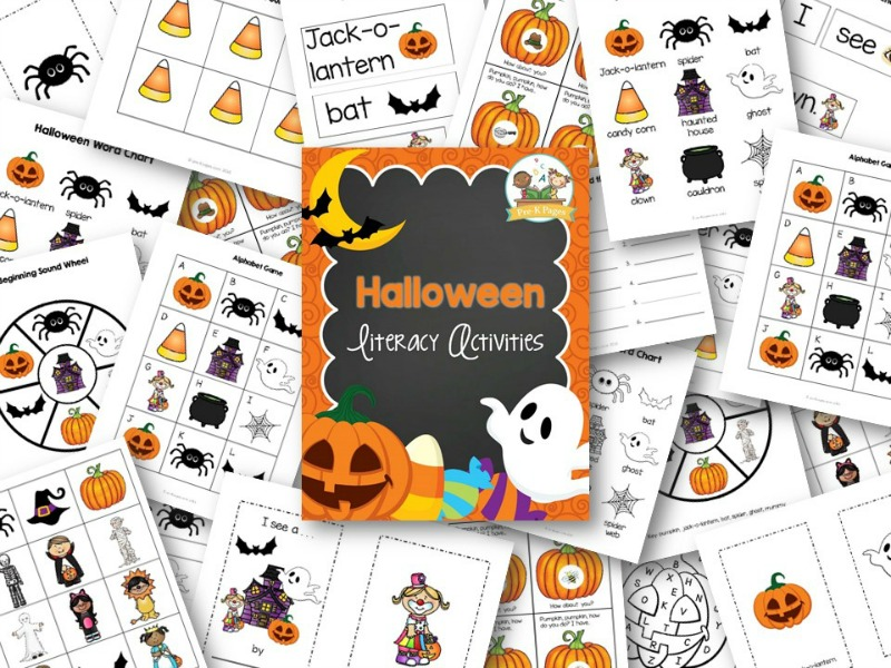 Printable Halloween Literacy Activities for Preschool