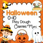 Printable Halloween Play Dough Counting Mats