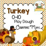 Printable Thanksgiving Play Dough Counting Mats for Preschool
