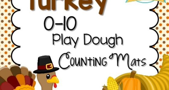 Thanksgiving Play Dough Counting Mats