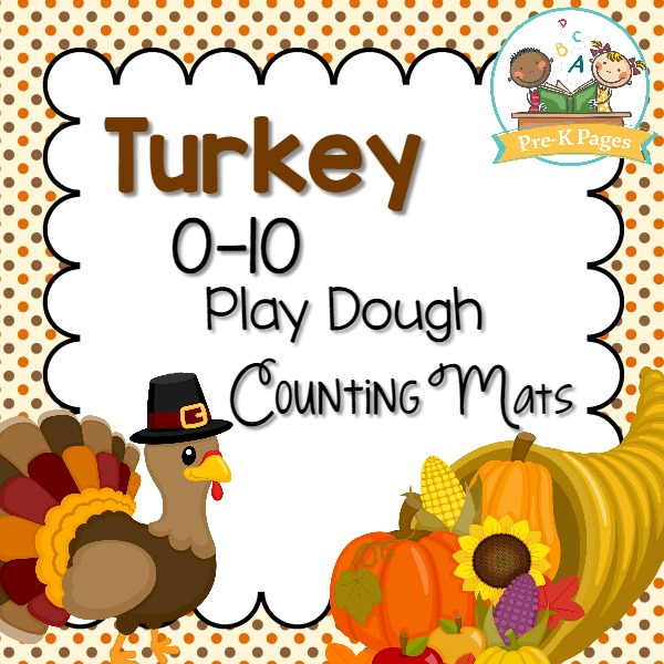 Thanksgiving Play Dough Counting Mats Pre K Pages