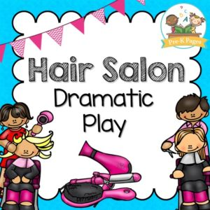 Hair Salon Dramatic Play Printables Pre K Pages