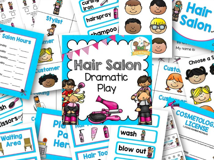 Hair Salon Dramatic Play Kit for Preschool